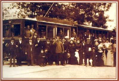 The first tram - 1901